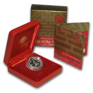 2011 Australia Silver Year of the Rabbit Proof