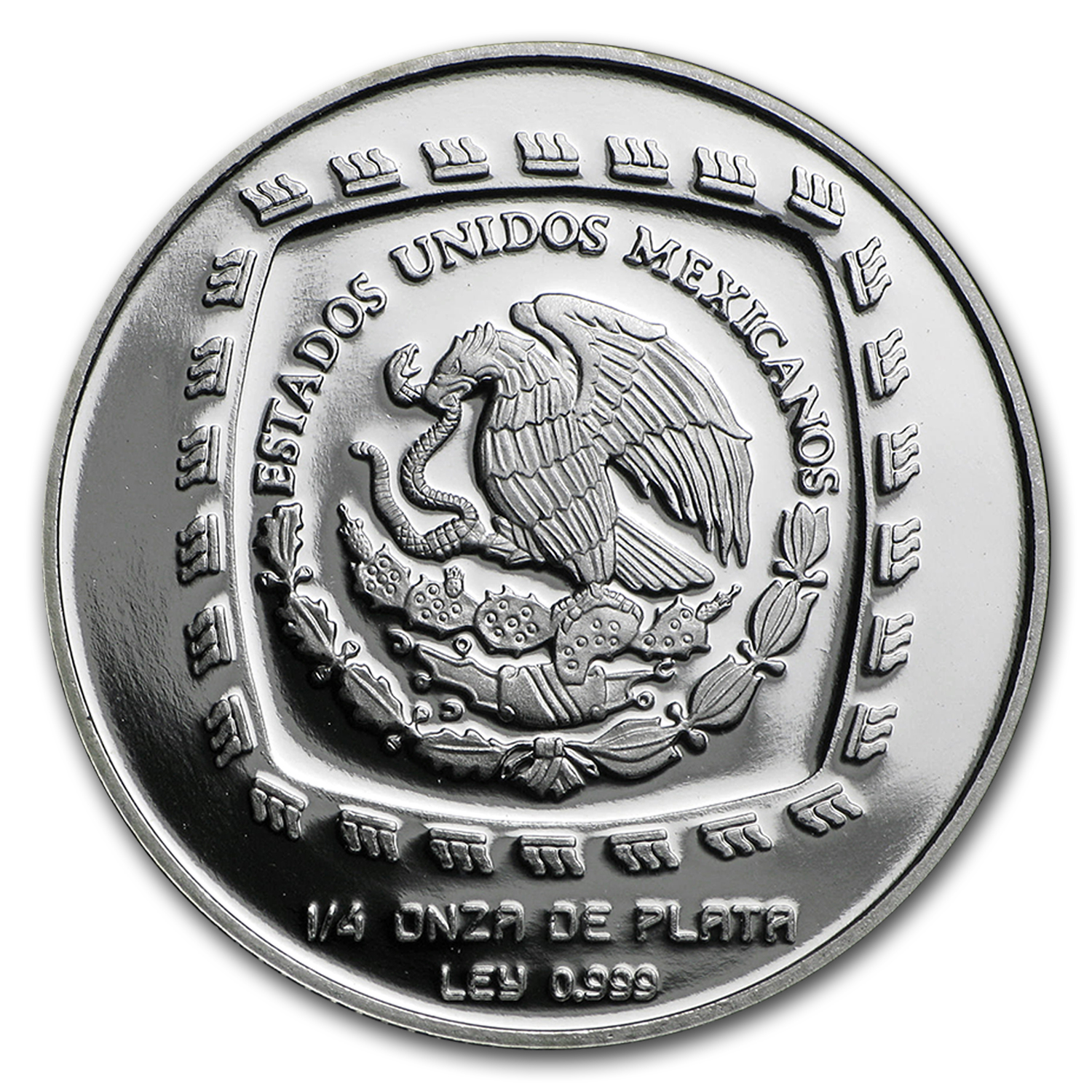 1996 1/4 oz Mexican Silver 1 Peso Las Limas (Proof)