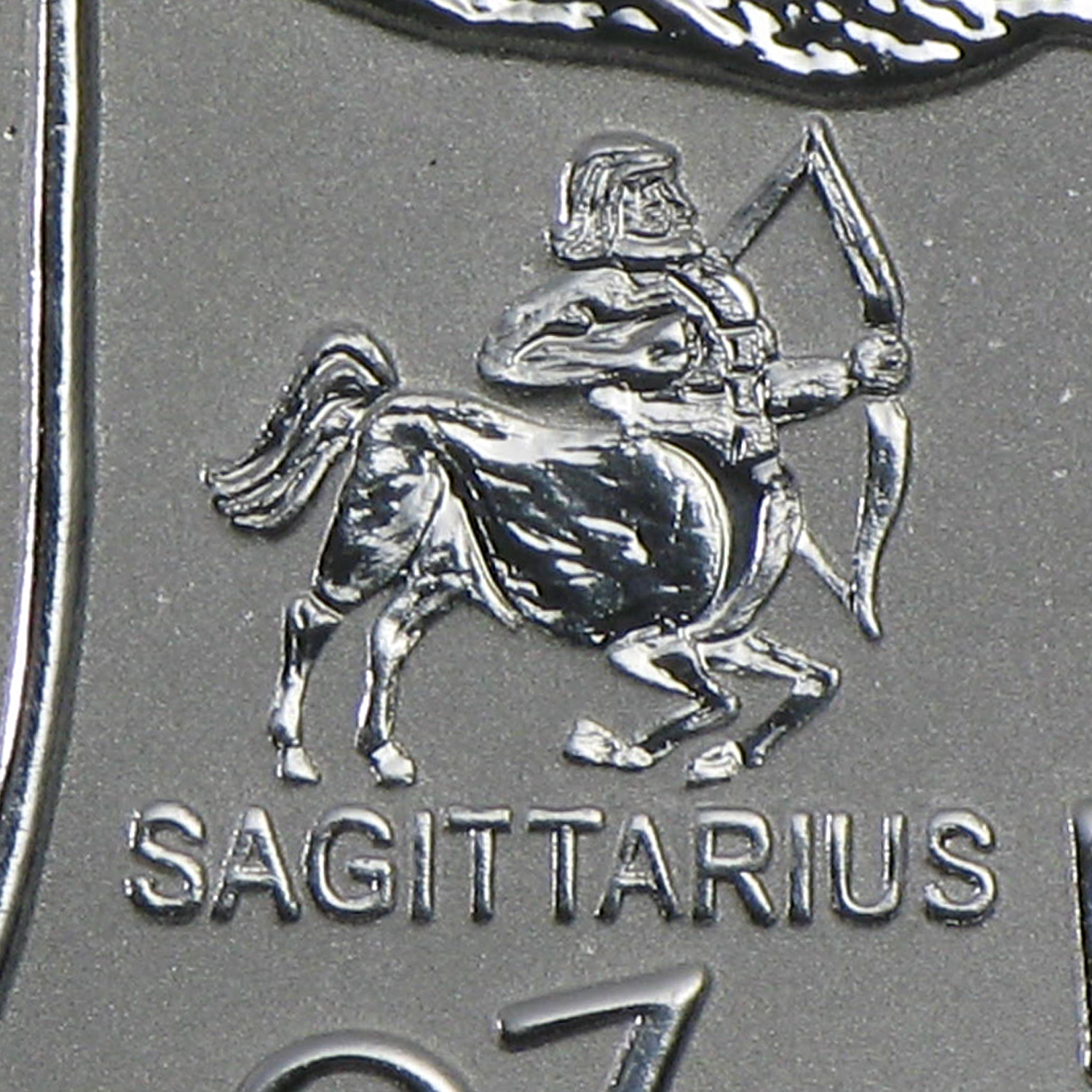 2004 Canada 1 oz Silver Maple Leaf Sagittarius Zodiac Privy