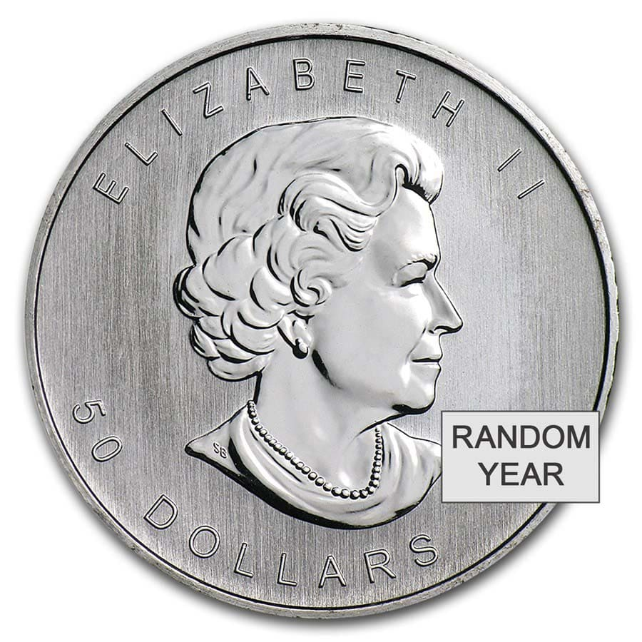 1 oz Canadian Platinum Maple Leaf BU (Random Year)