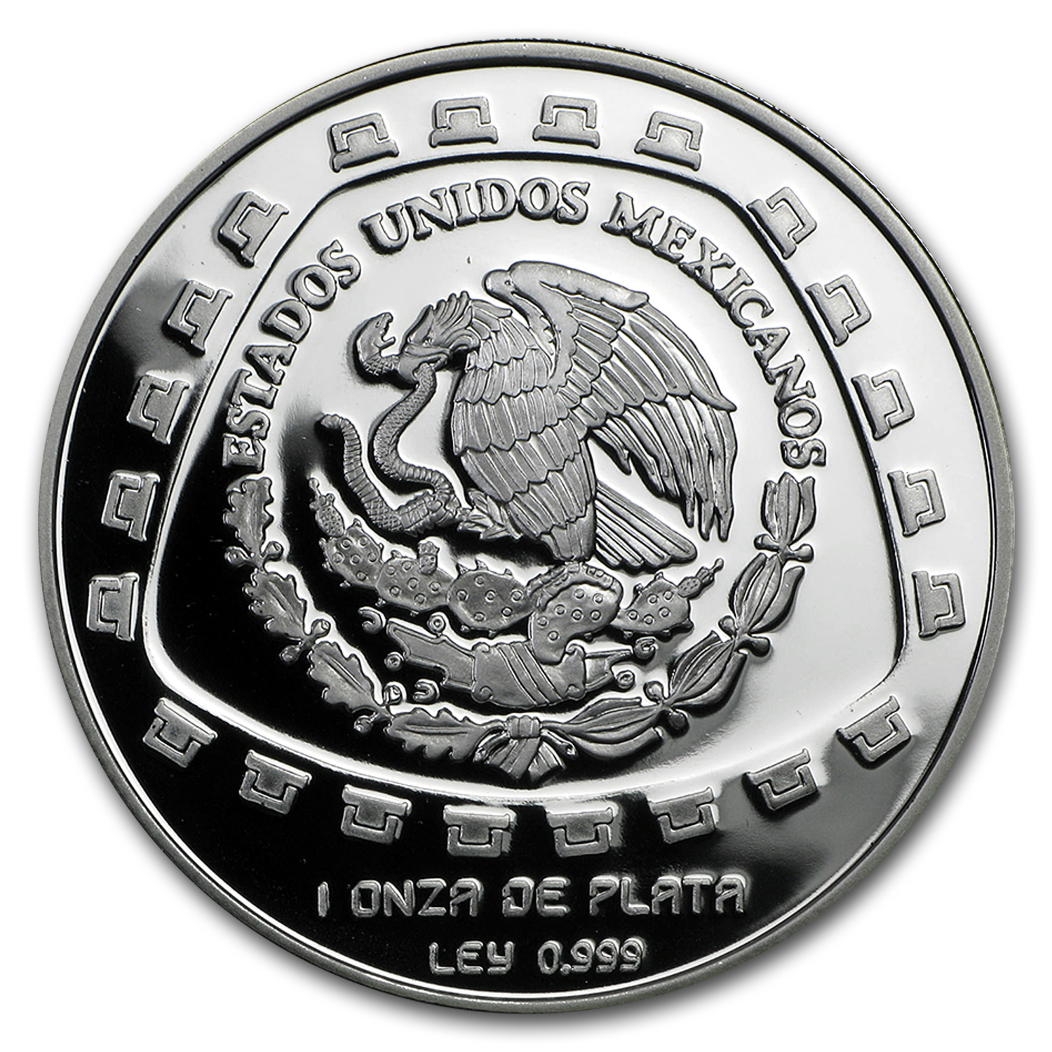 1998 Mexico 1 oz Silver 5 Pesos Jaguar Proof