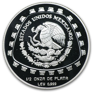1998 1/2 oz Mexican Silver 2 Pesos Jaguar (Proof)