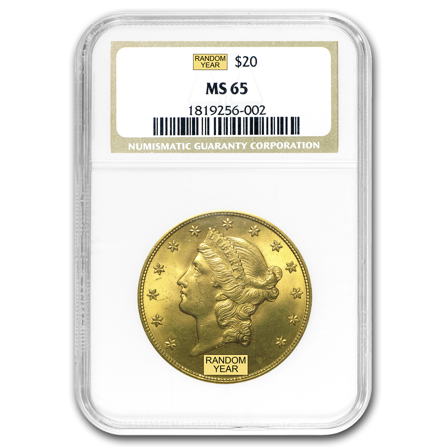 $20 Gold Liberty Double Eagle MS-65 NGC