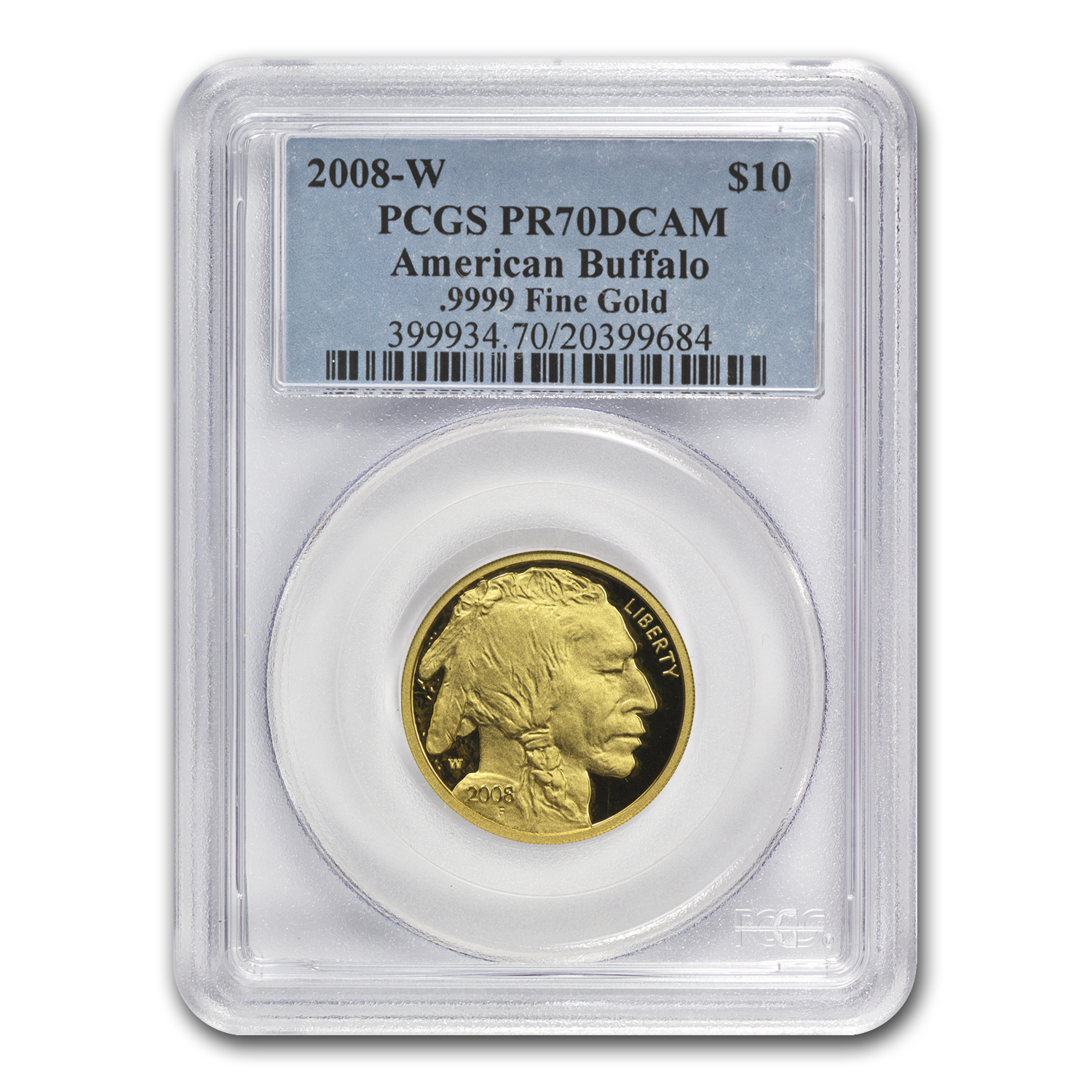 2008-W 1/4 oz Proof Gold Buffalo PR-70 PCGS