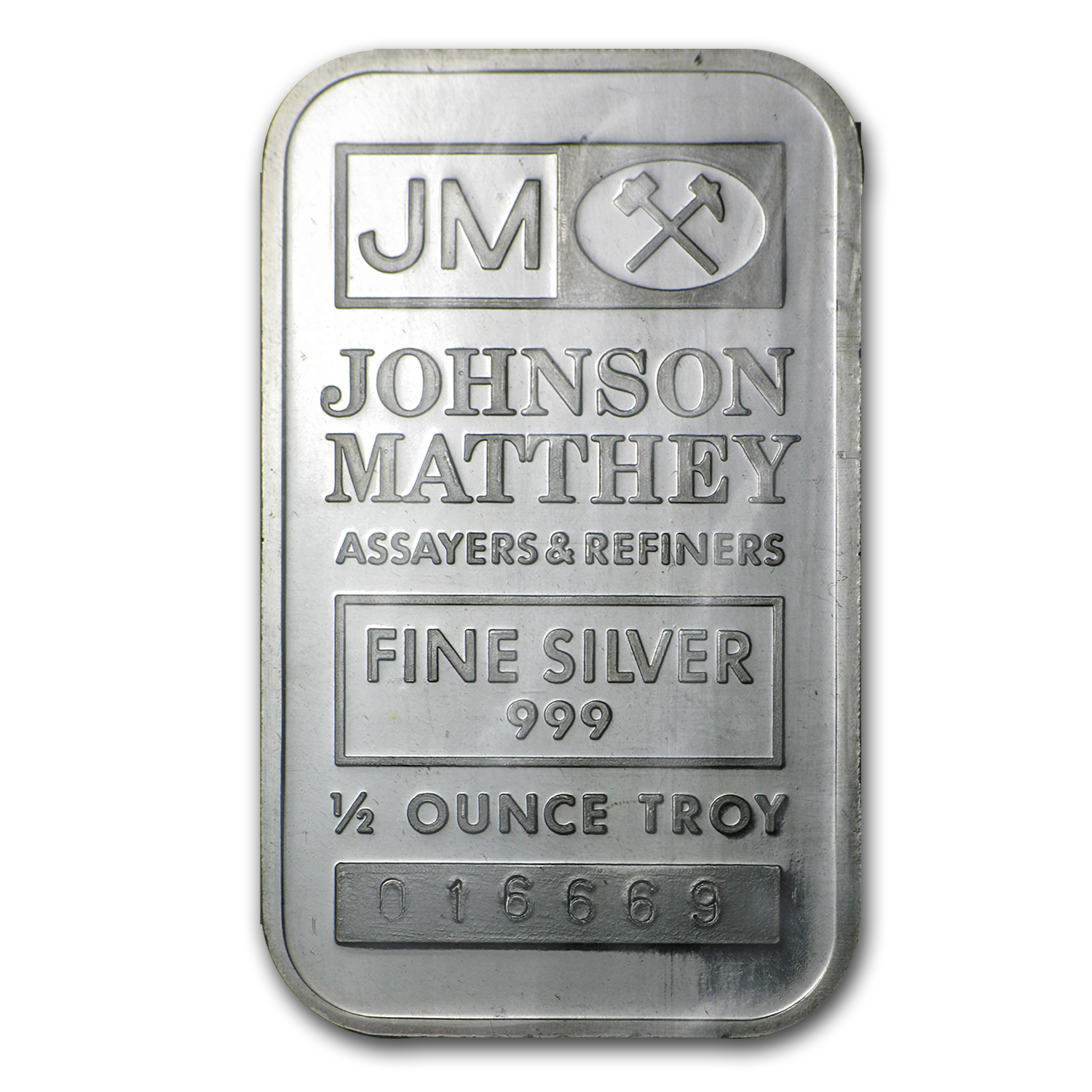 1/2 oz Silver Bar - Johnson Matthey