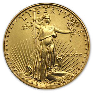 1989 1/2 oz Gold American Eagle (Cleaned)