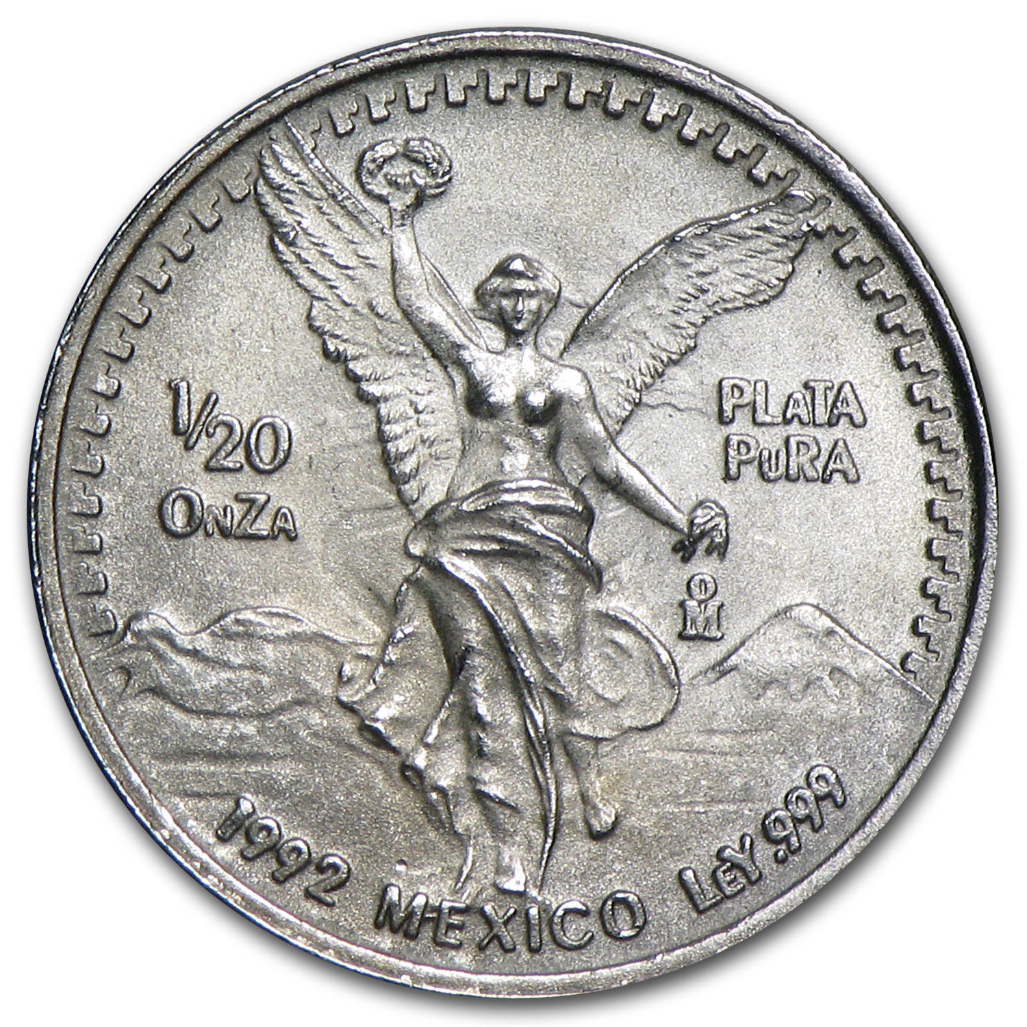 1992 1/20 oz Silver Libertad (Brilliant Uncirculated)