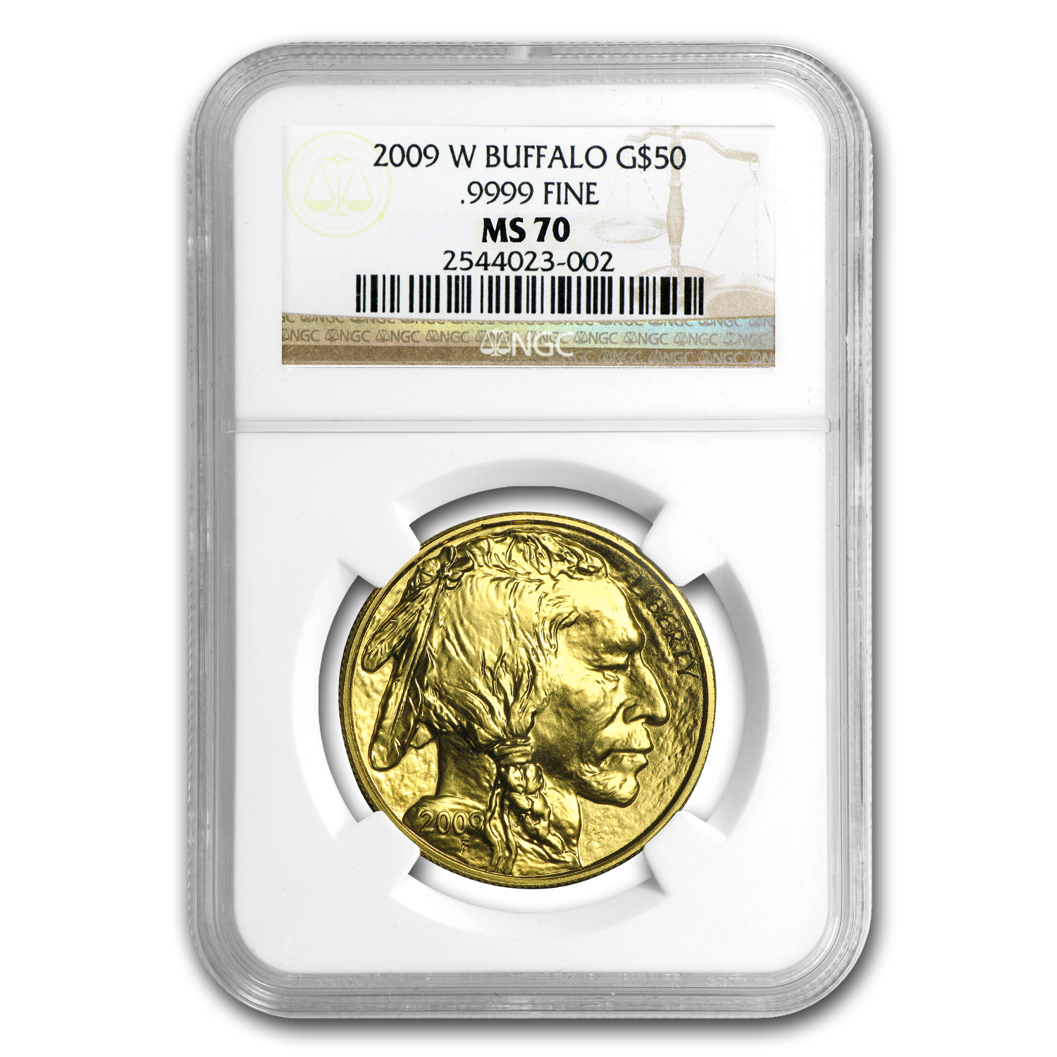 2009 1 oz Gold Buffalo MS-70 NGC
