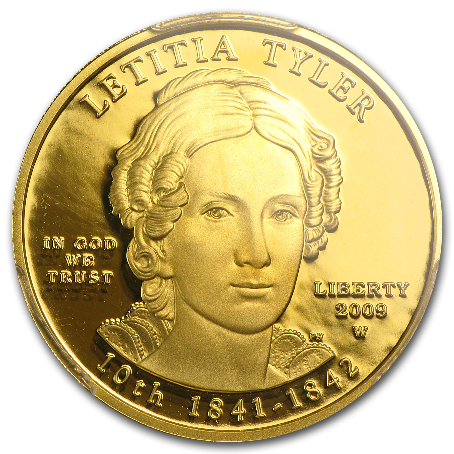 2009-W 1/2 oz Proof Gold Letitia Tyler PR-69 PCGS