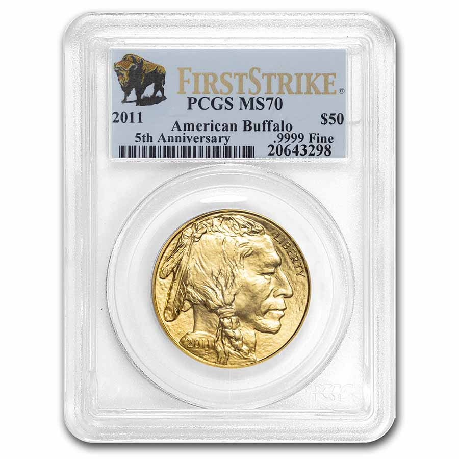 2011 1 oz Gold Buffalo MS-70 PCGS (First Strike)