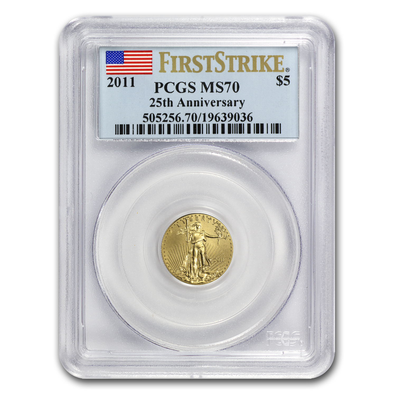 2011 1/10 oz Gold American Eagle MS-70 PCGS (FS)