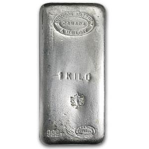 1 Kilo Silver Bar Johnson Matthey Amp Mallory Maple Leaf