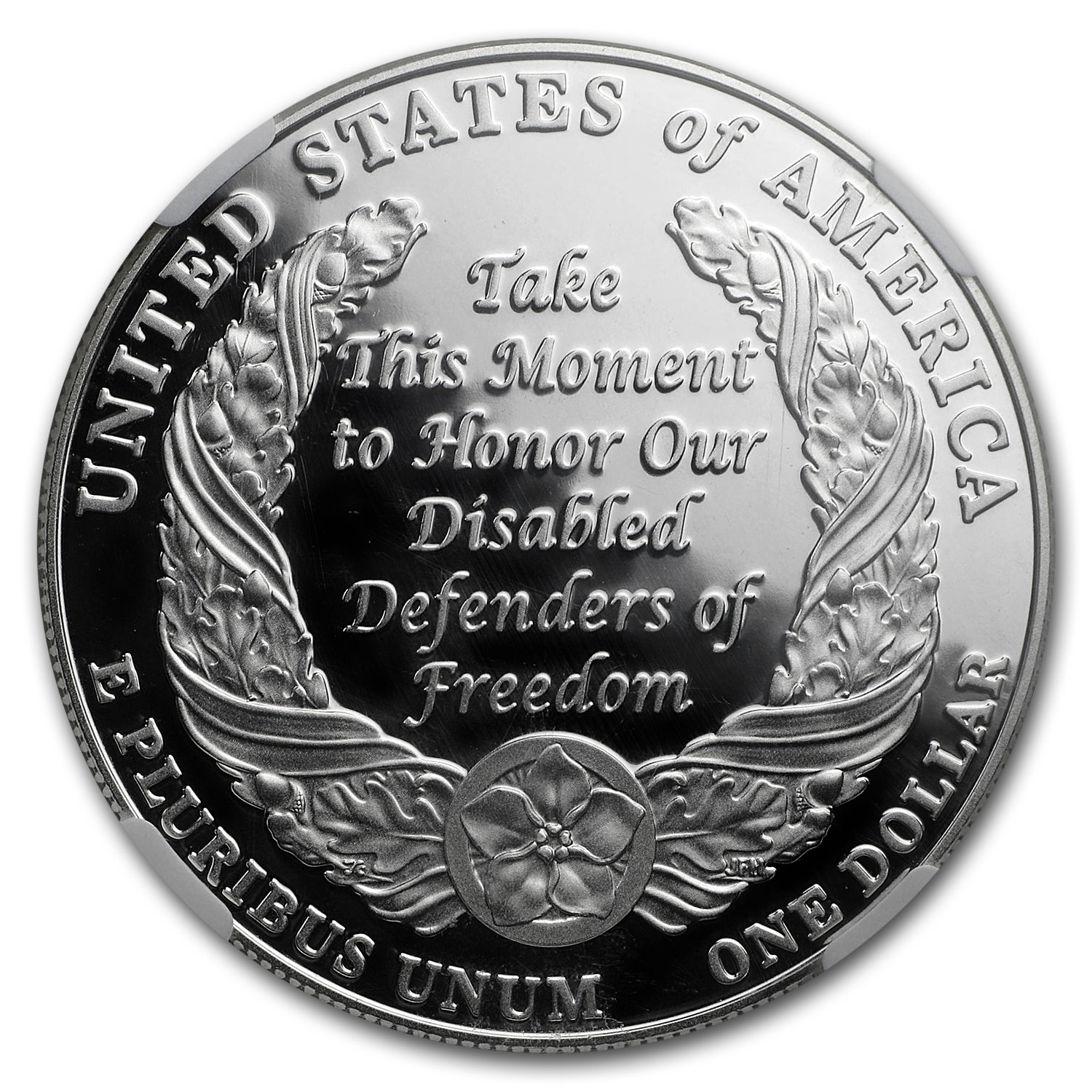 2010-W Disabled American Veterans $1 Silver Commem PF-69 UCAM NGC