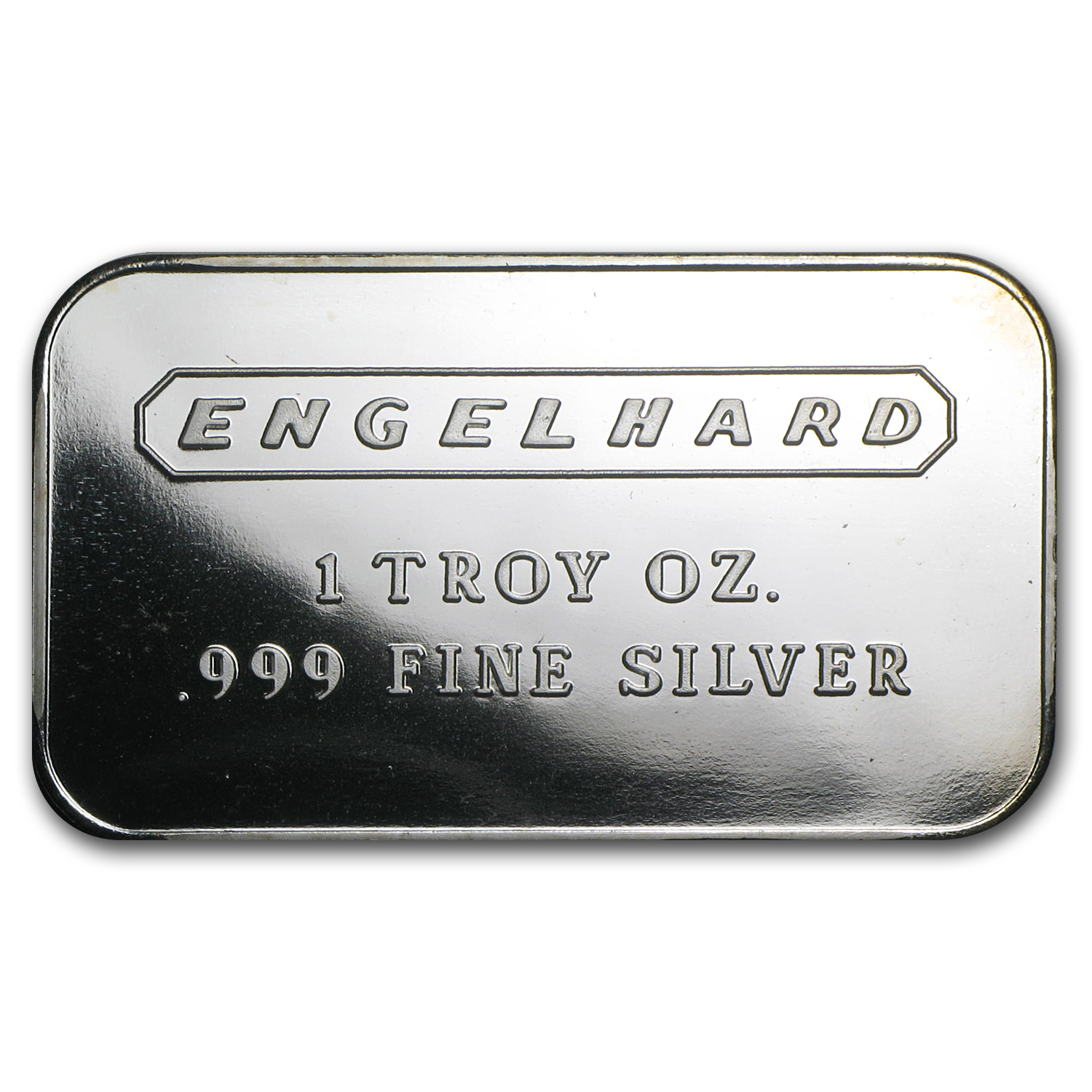 1 oz Silver Bar - Engelhard (Wide/No Serial #/Frosted/1980)