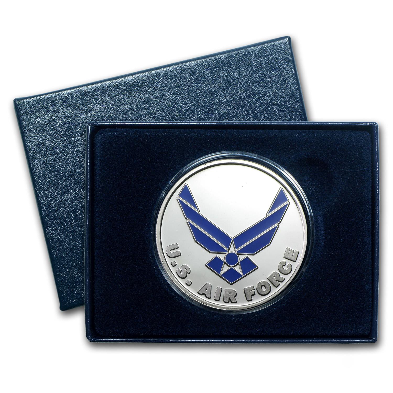 1 Oz Silver Round U S Air Force Enameled W Box