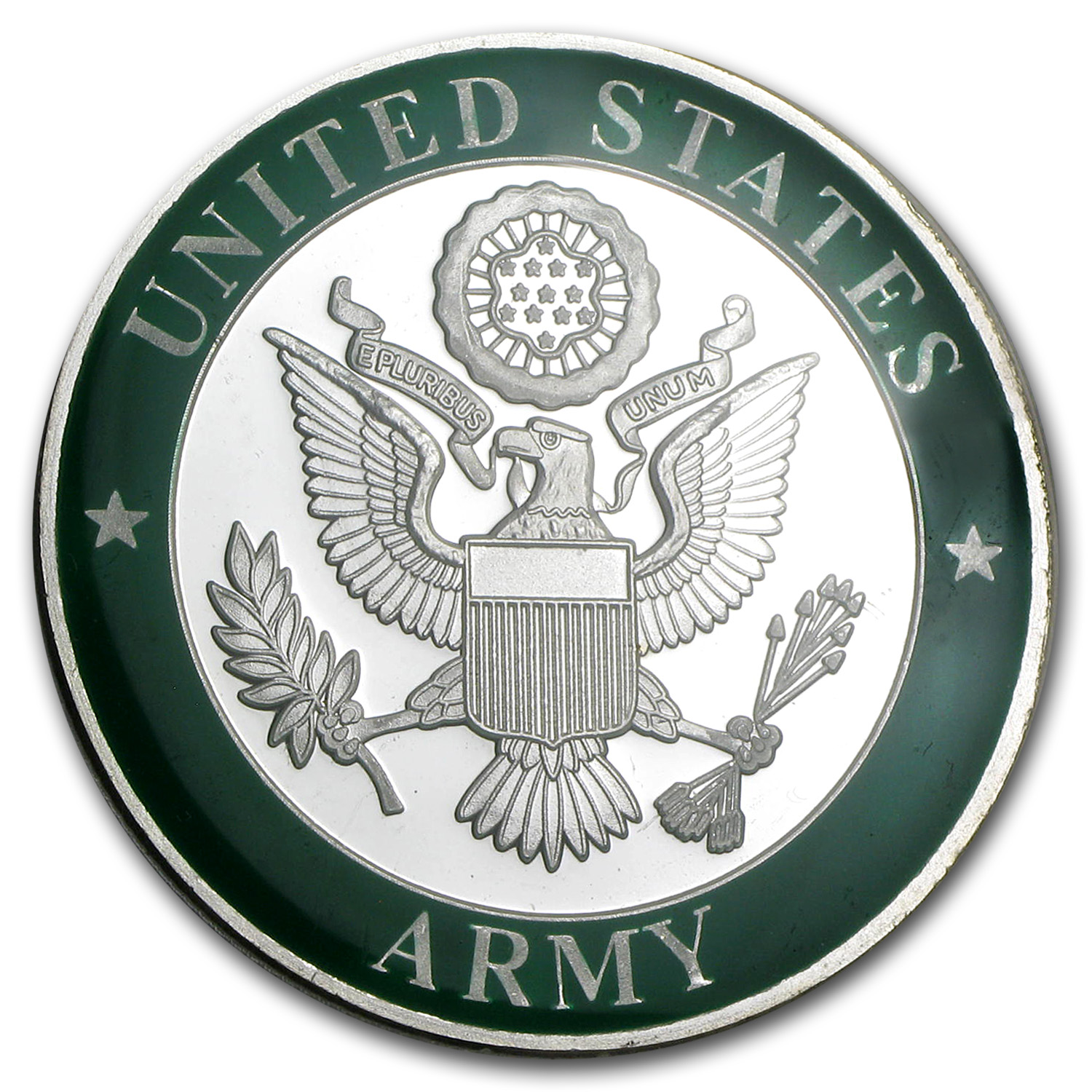 1 oz Silver Rounds - U.S. Army Enameled (w/Box & Capsule)