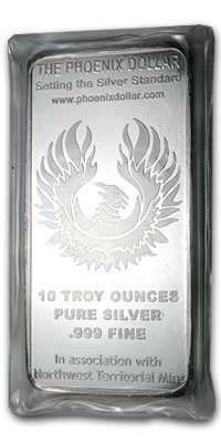 10 oz Silver Bars - The Phoenix Dollar