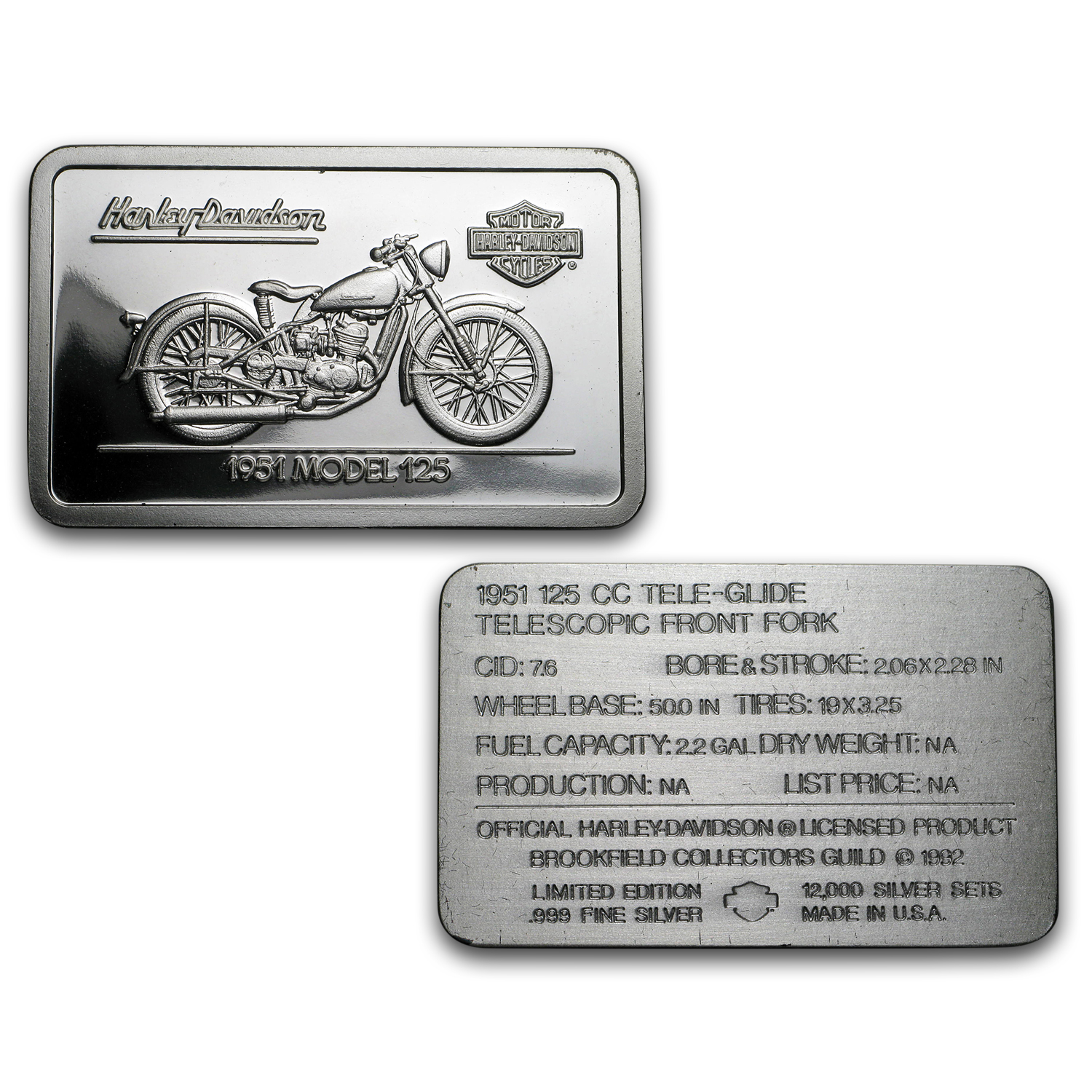(24) 1.4 oz Silver Bar - 90th Anniv. HARLEY DAVIDSON (Set)