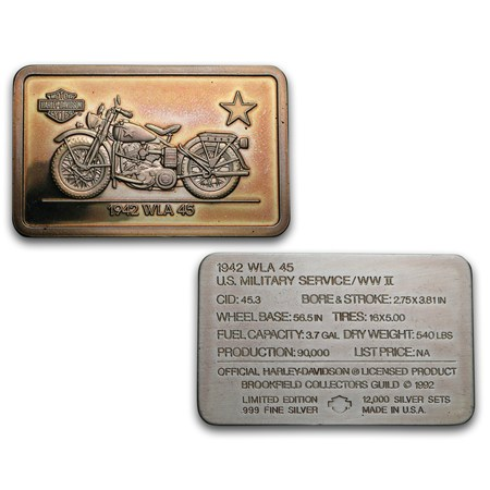 24 1 4 Oz Silver Bar 90th Anniv Harley Davidson Set