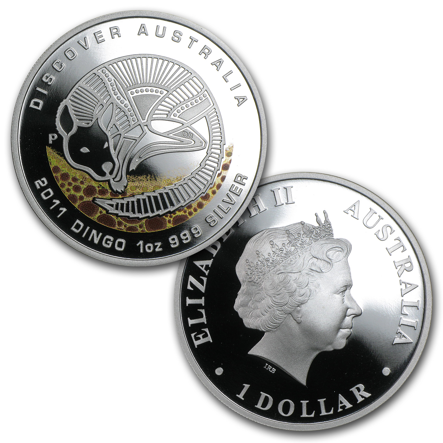 2011 5-Coin 1 oz Silver Discover Australia Dreaming Proof Set