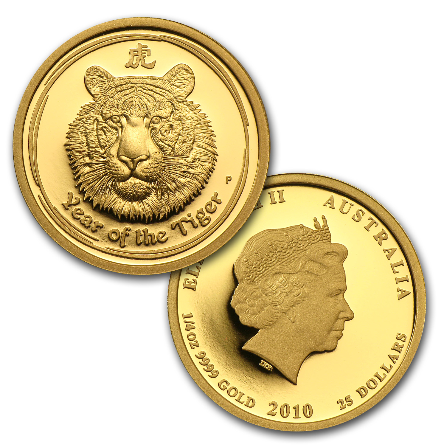2010 3-Coin Gold Lunar Year of the Tiger Proof Set (Series II)