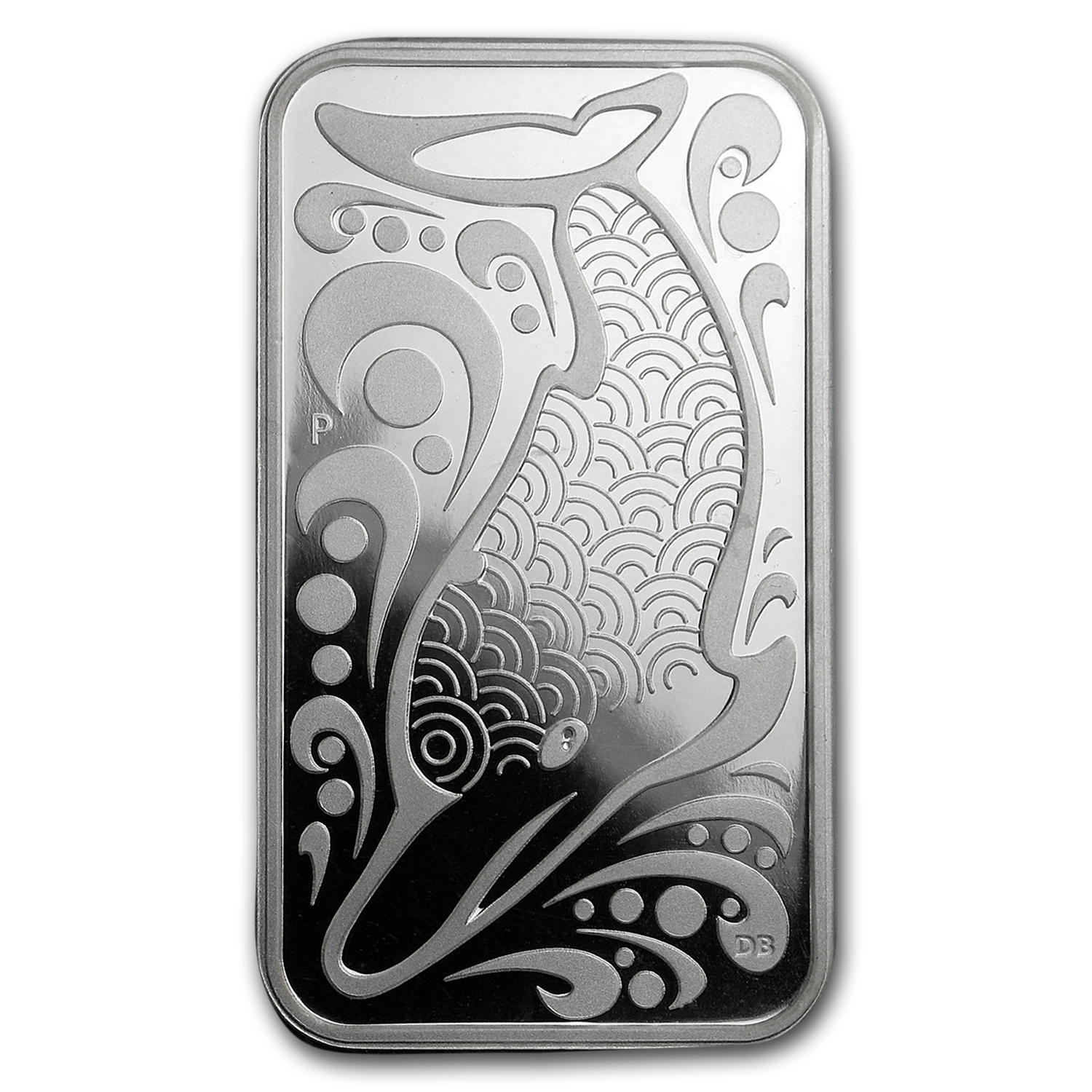 2010 1 oz Silver Australian Dolphin Dreaming (Rectangle)