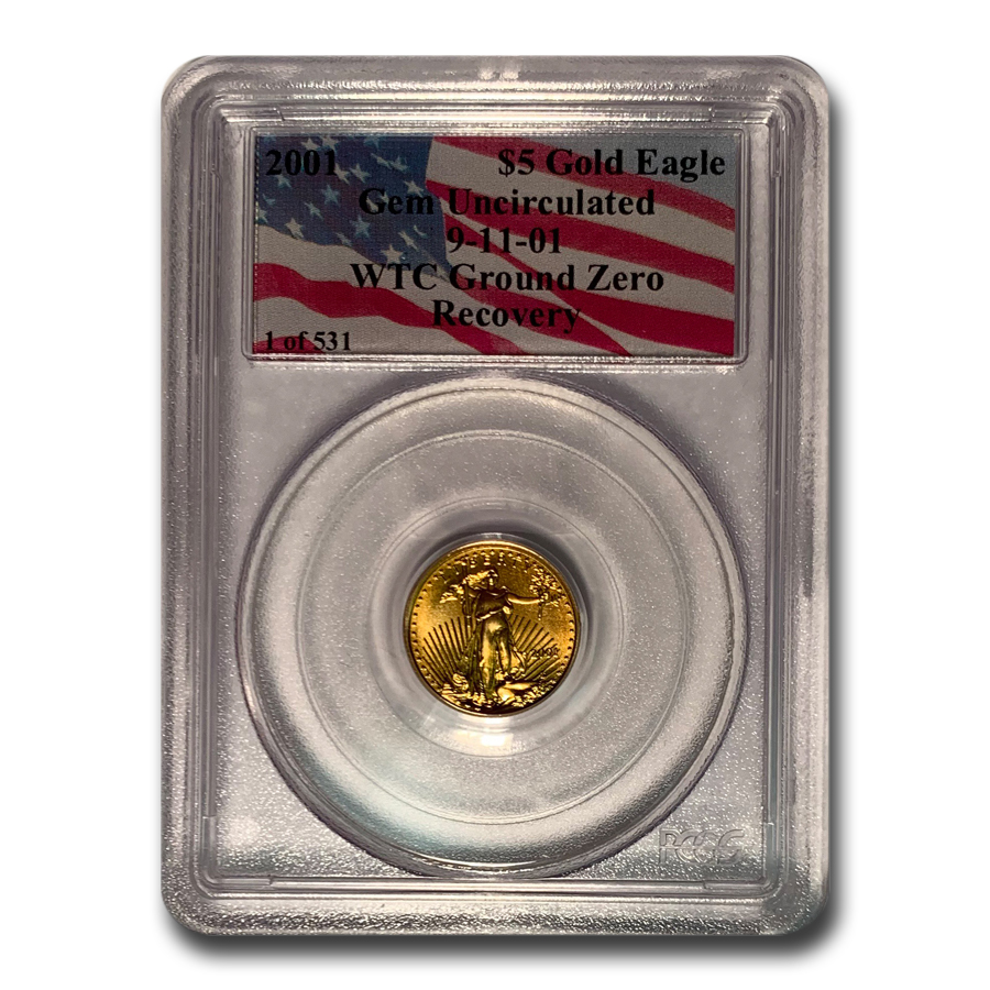 2001 1/10 oz Gold American Eagle Gem Unc PCGS (WTC)