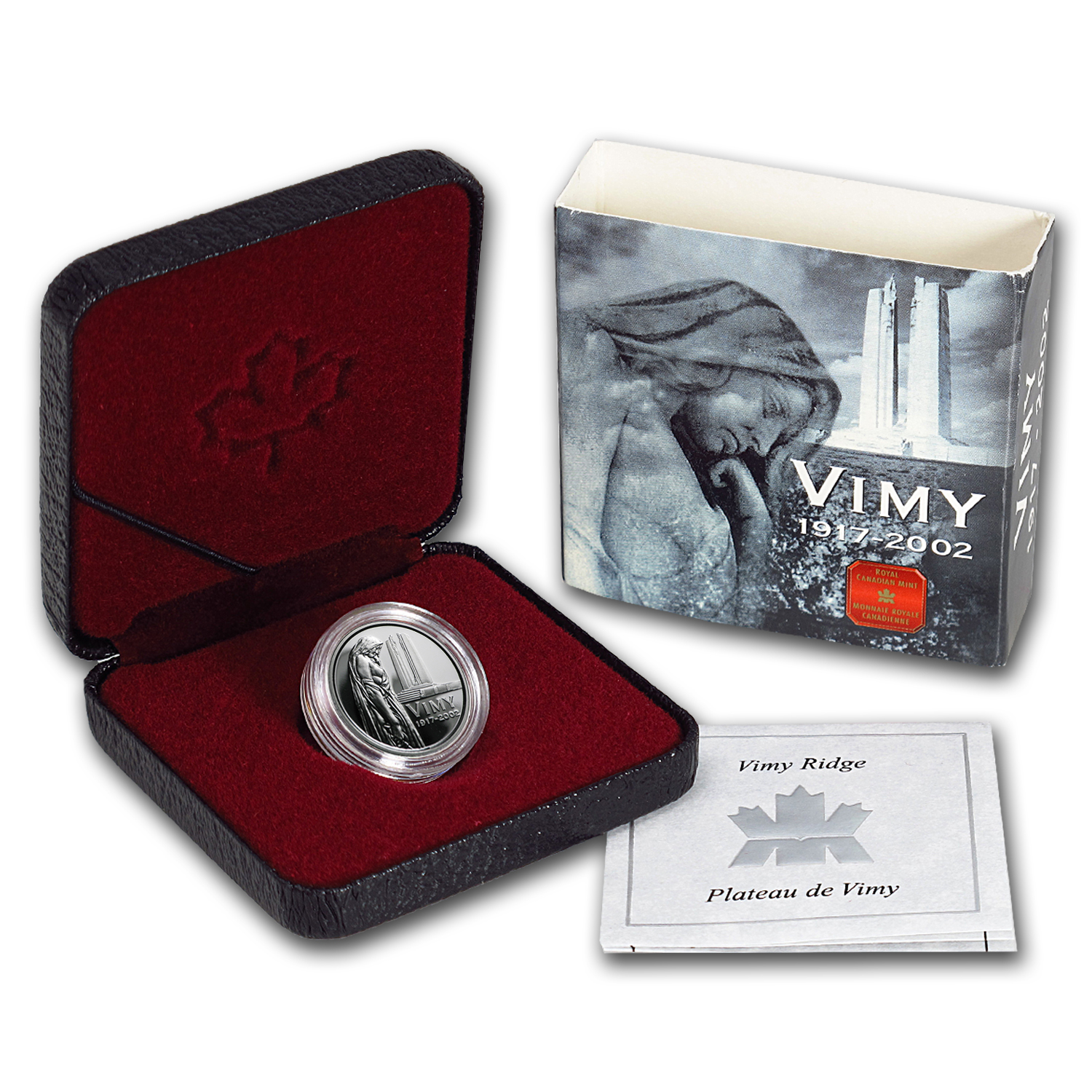 2002 Canada Silver $0.05 Vimy Ridge Memorial Proof