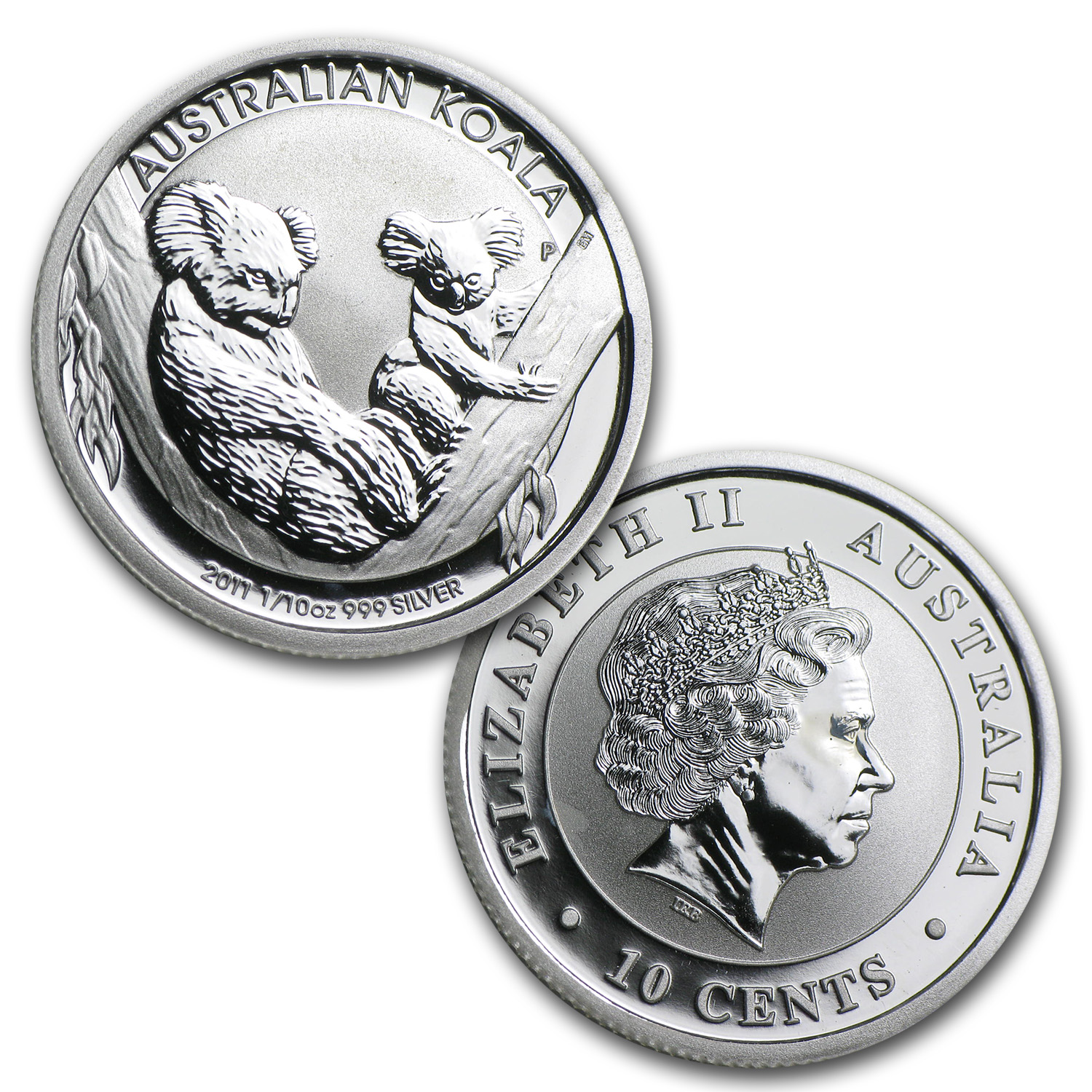 2011 1/10 oz Silver Australian Koala (In display card)