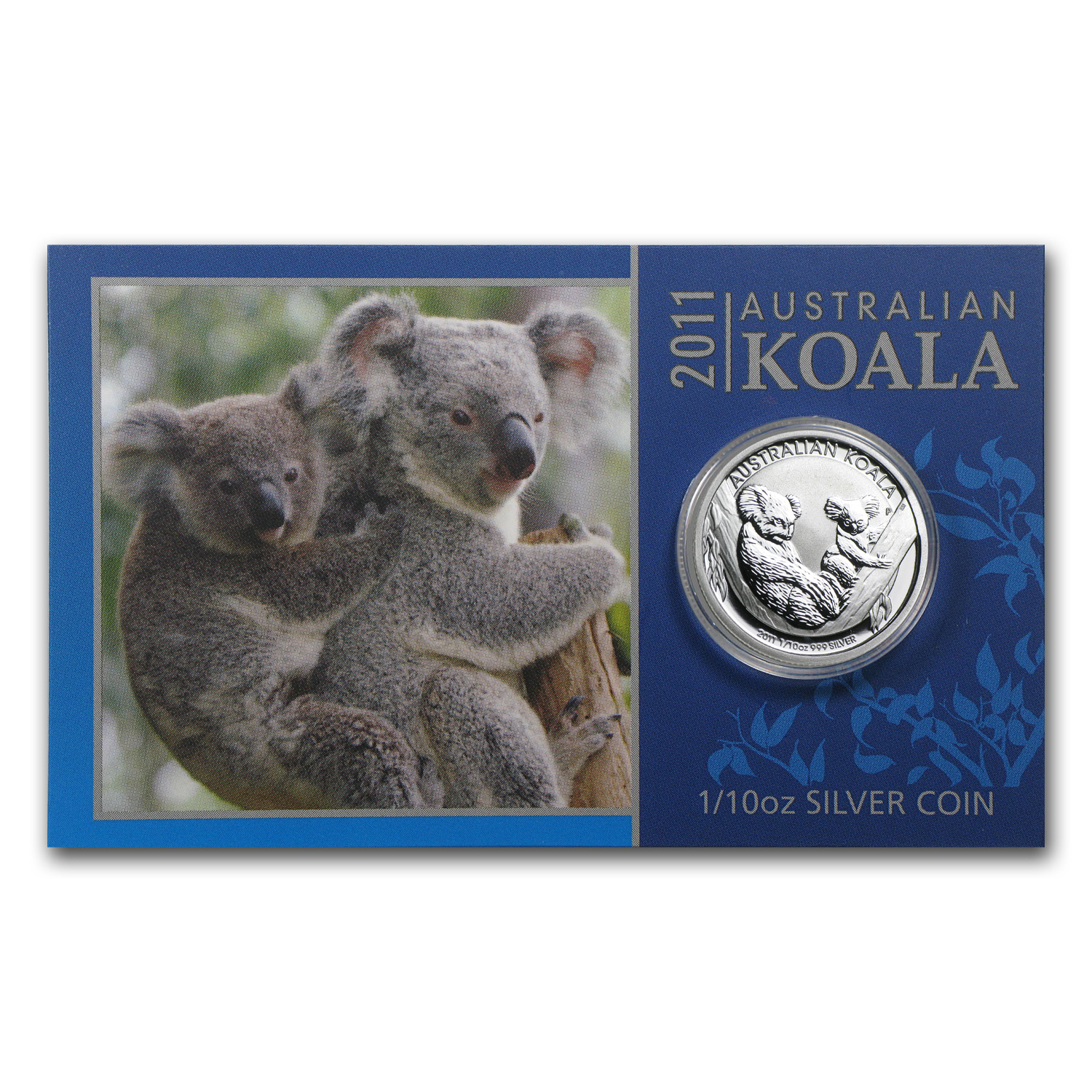 2011 Australia 1/10 oz Silver Koala BU (In display card)