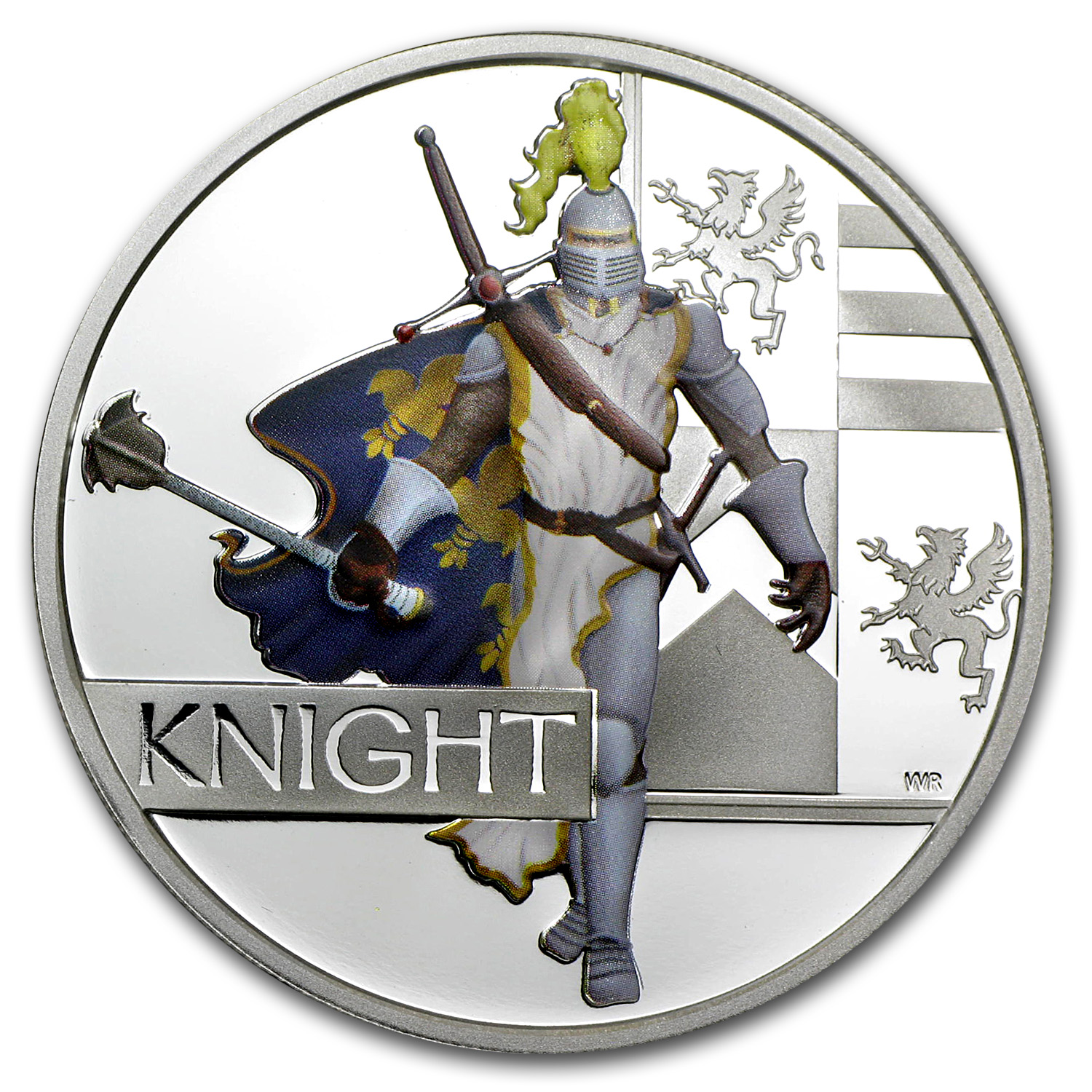 2010 1 oz Proof Silver Great Warriors Series (Knight)