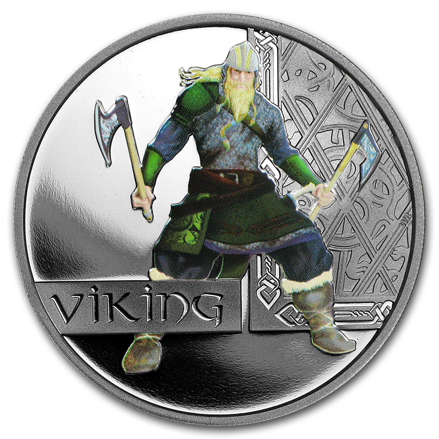 2010 1 oz Proof Silver Great Warriors Series (Viking)