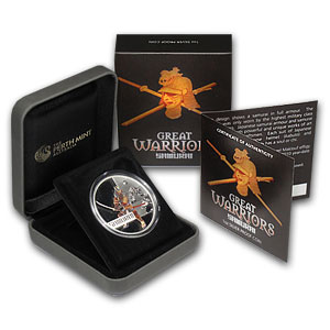 2010 1 oz Proof Silver Great Warriors Series (Samurai)