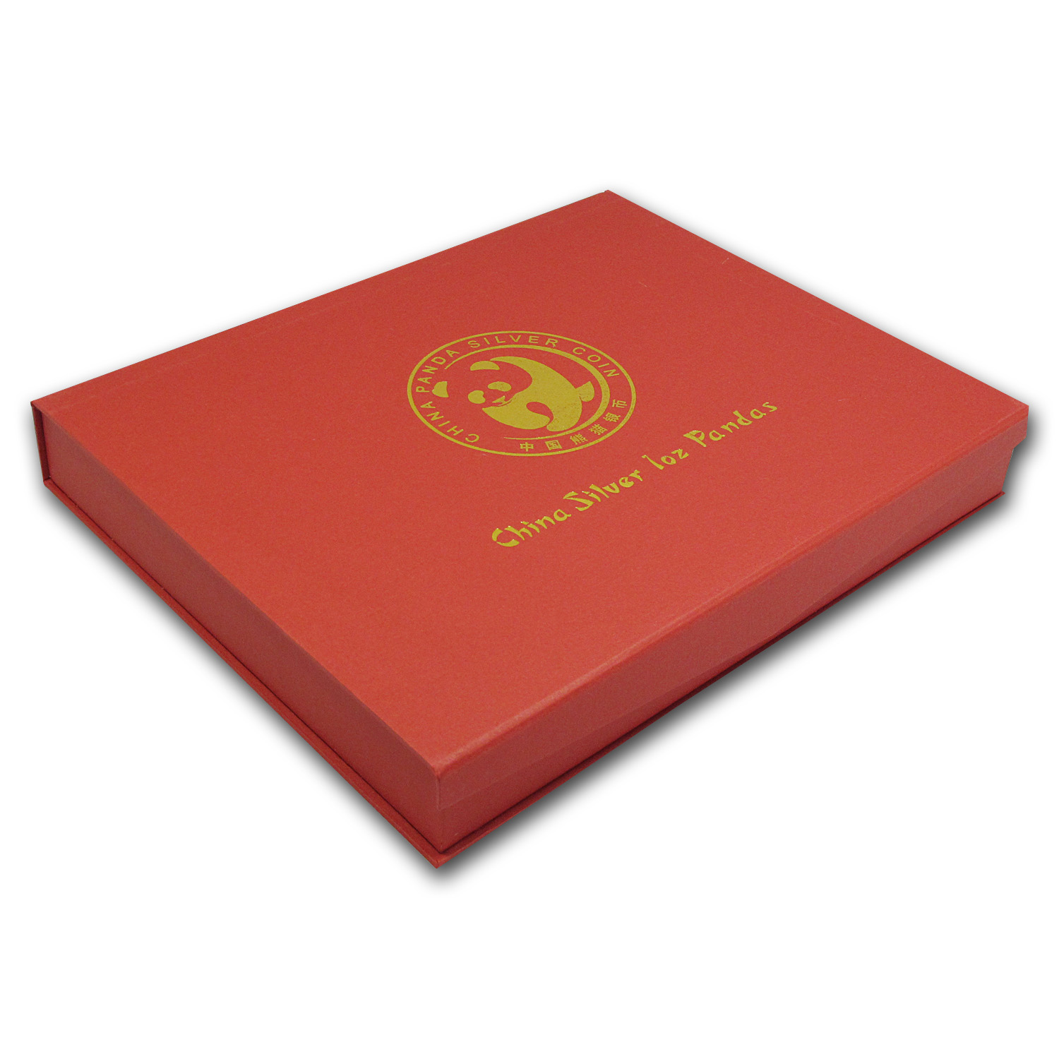 1 oz Chinese Silver Panda 40-Piece Red Presentation Box