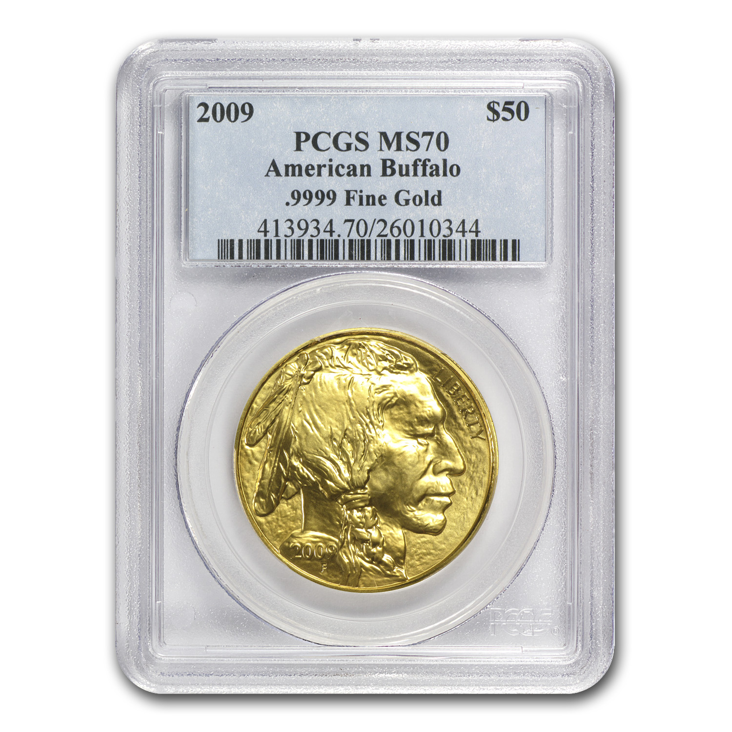 2009 1 oz Gold Buffalo MS-70 PCGS