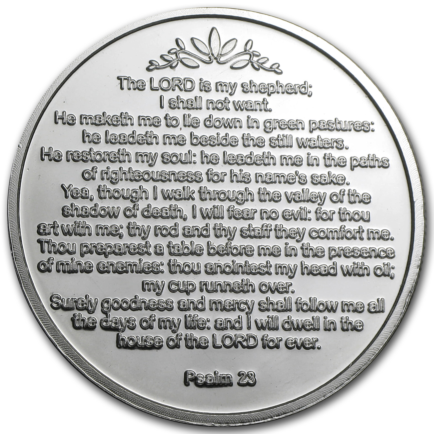 1 oz Silver Rounds - 23rd Psalm (w/Box & Capsule)