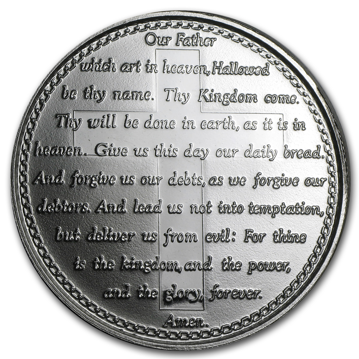 1 oz Silver Rounds - Lord's Prayer (w/Box & Capsule)