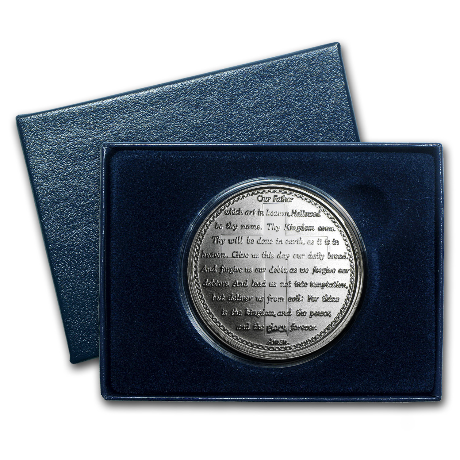 1 oz Silver Round - Lord's Prayer (w/Box & Capsule)
