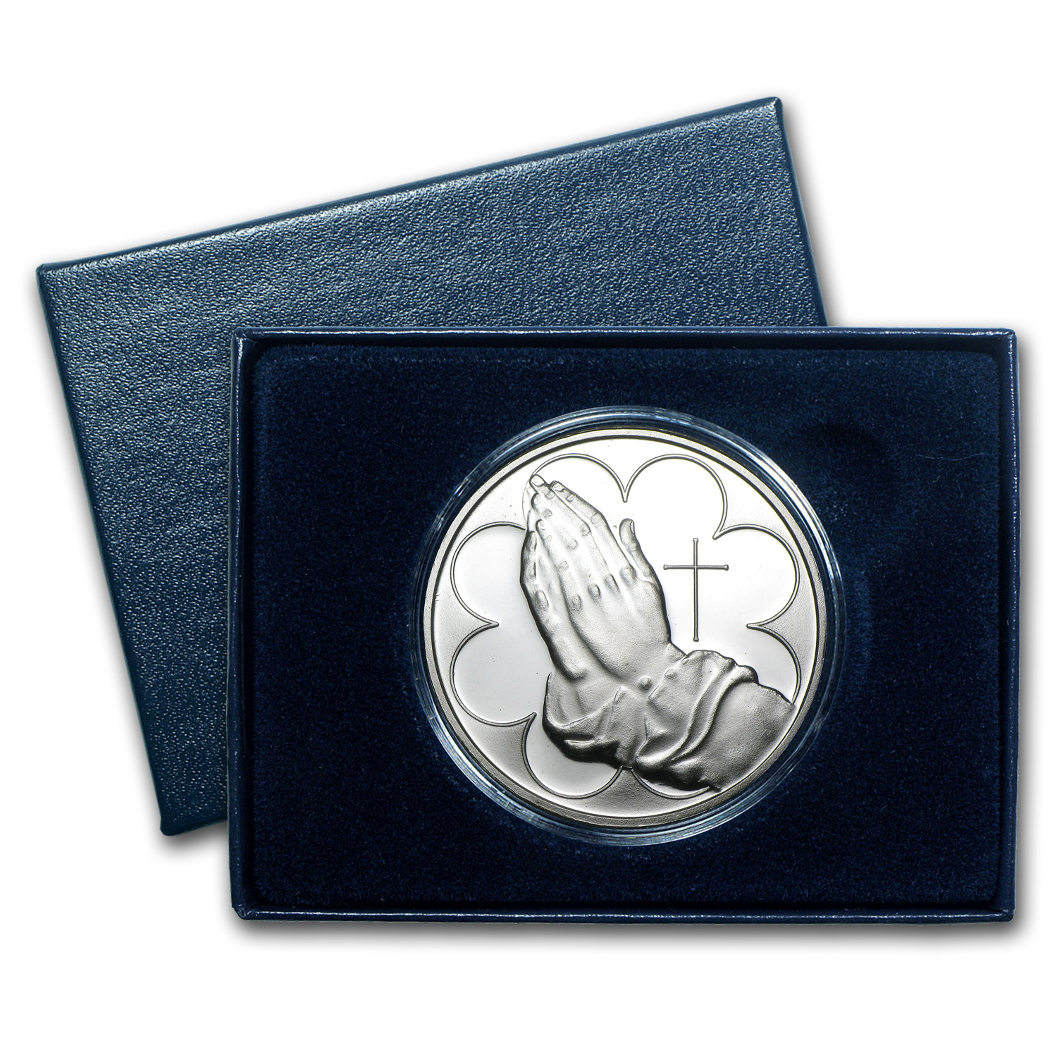 1 oz Silver Round - Praying Hands (w/Box & Capsule)