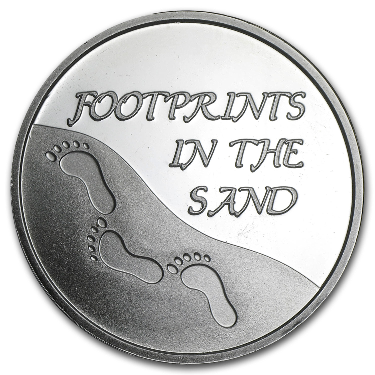 1 oz Silver Rounds - Footprints in the Sand (w/Box & Capsule)