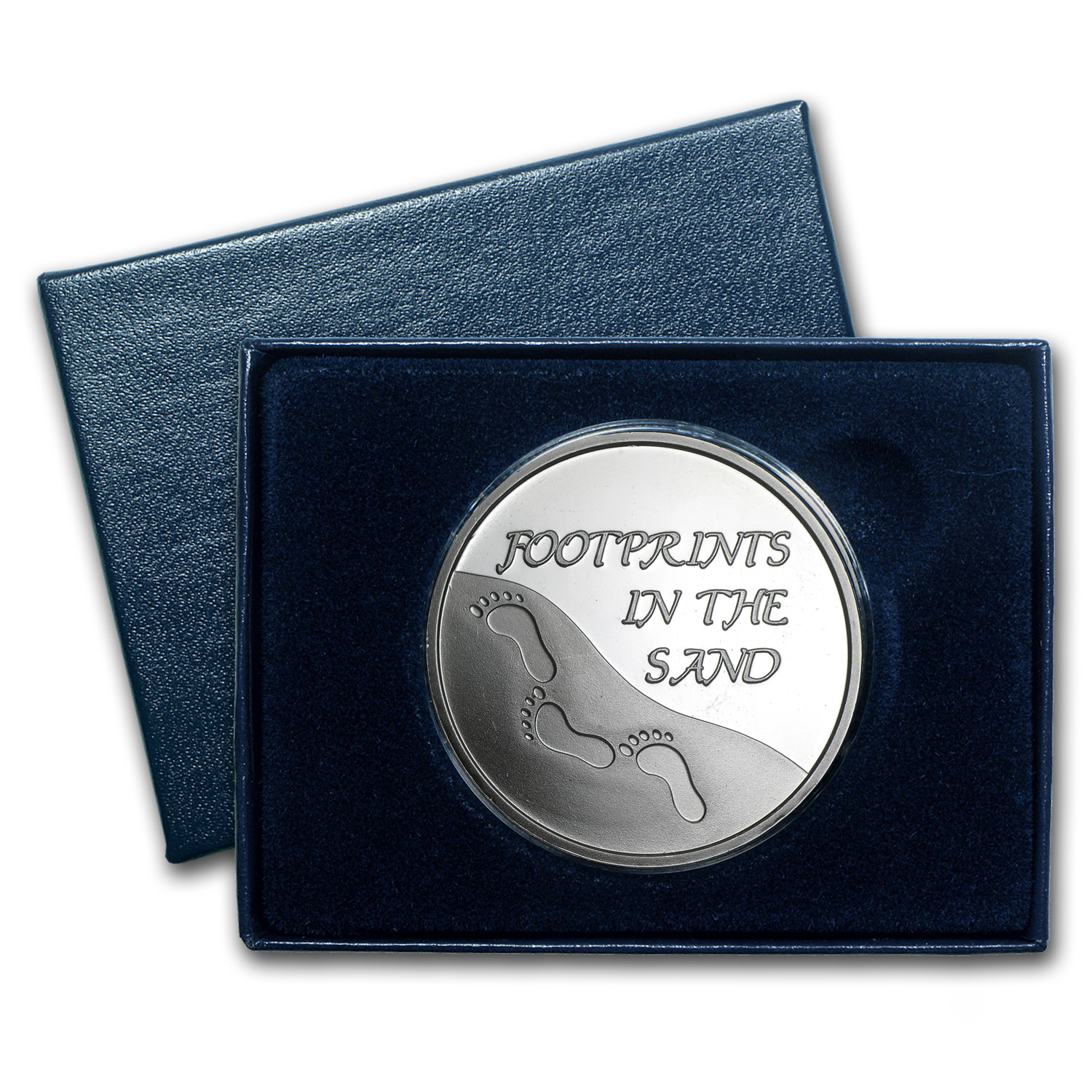 1 oz Silver Round - Footprints in the Sand (w/Box & Capsule)