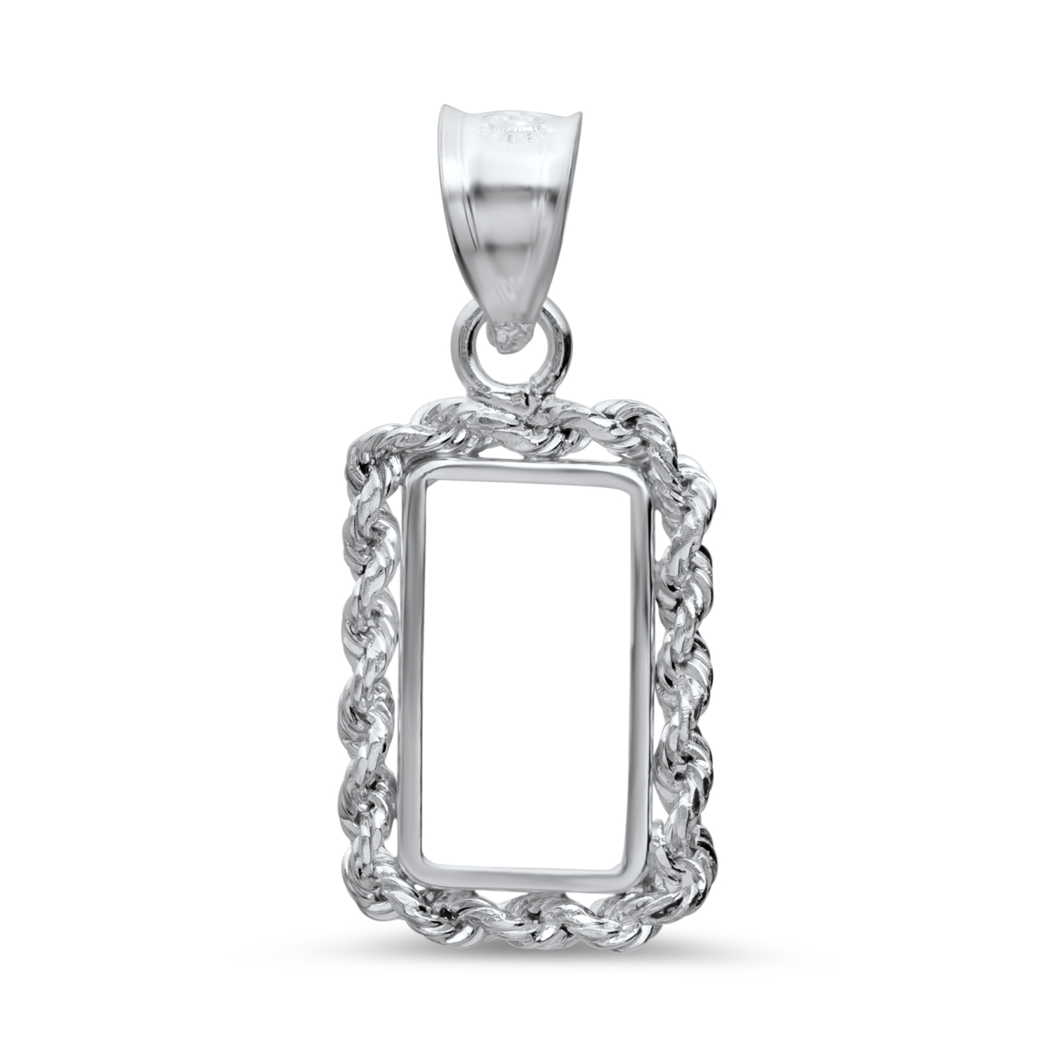 Sterling Silver Bezels (Fits 1 Gram Bars) (Rope Style)