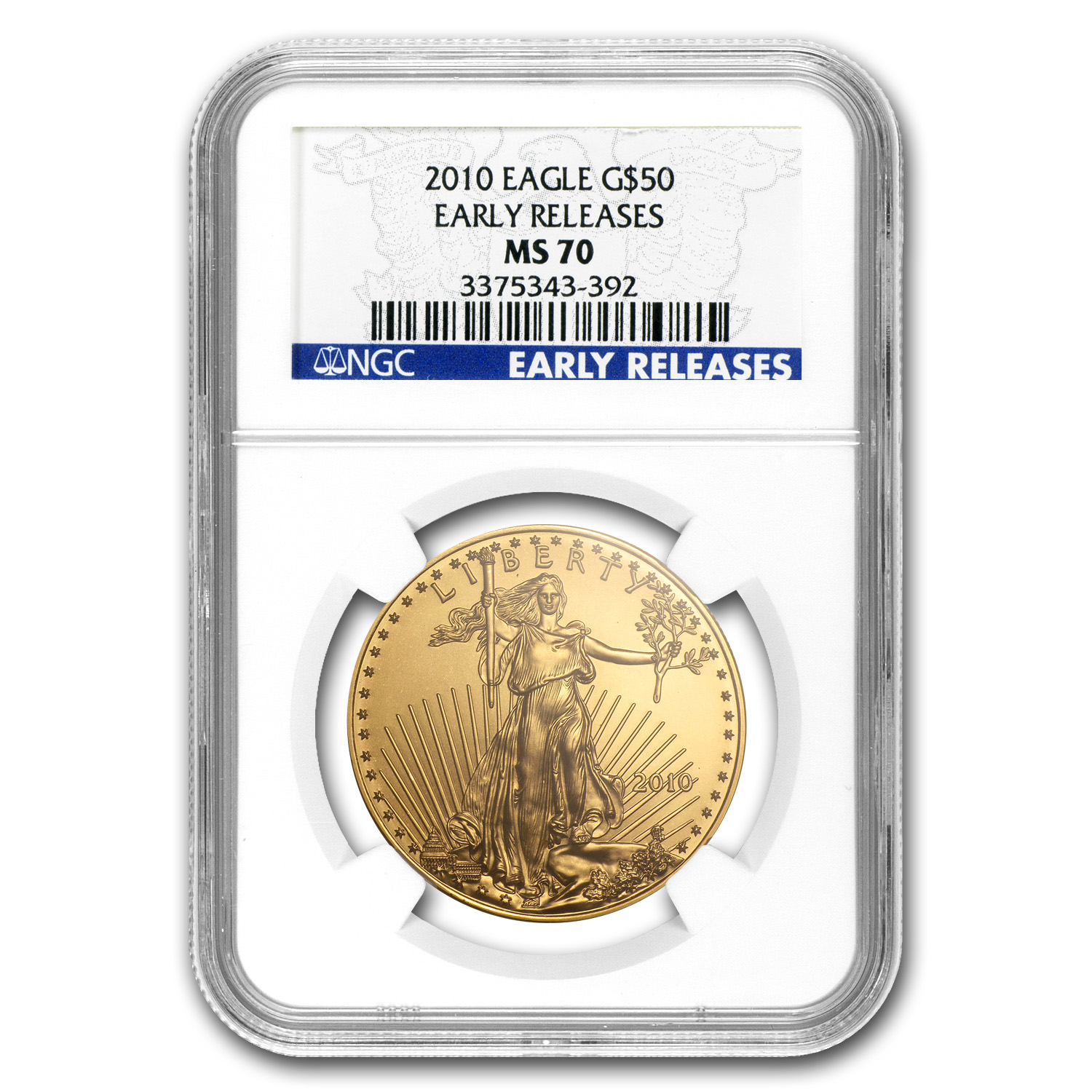 2010 1 oz Gold American Eagle MS-70 NGC (Early Releases)