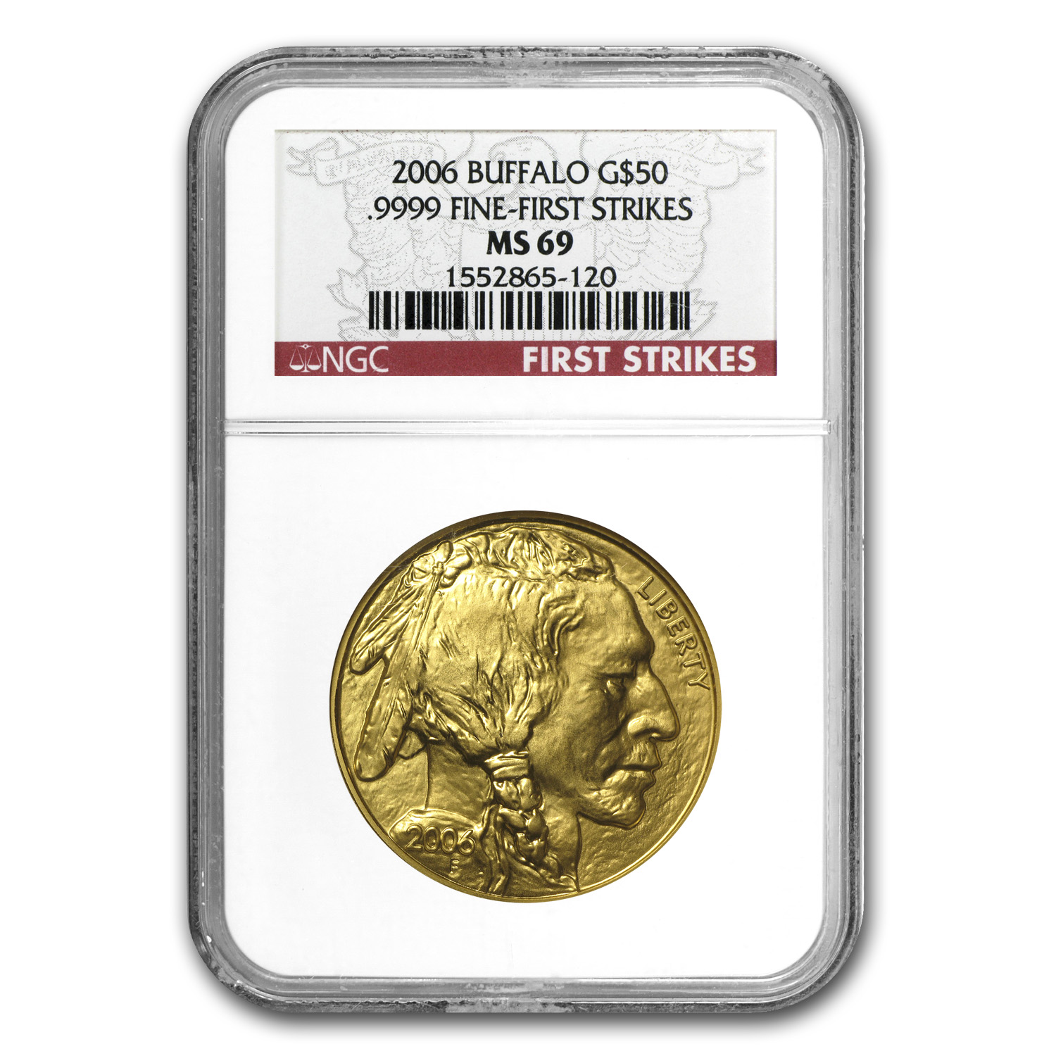 1 oz Gold Buffalo MS-69 PCGS/NGC (Random Year)