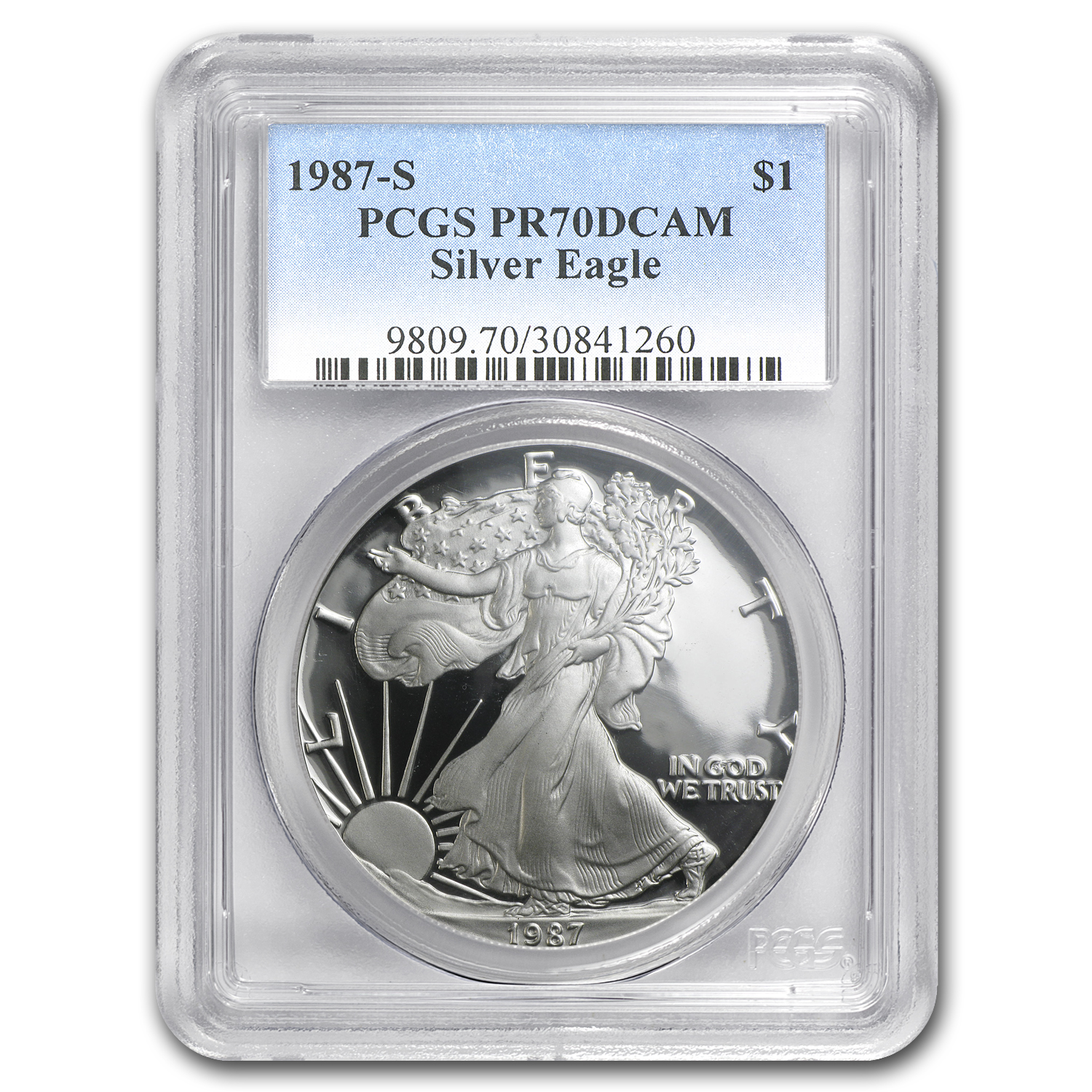 1987-S Proof Silver American Eagle PR-70 PCGS (Registry Set)