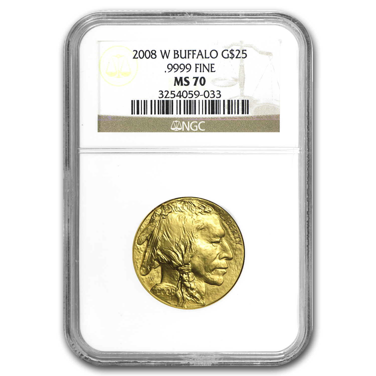 2008-W 1/2 oz Gold Buffalo MS-70 NGC