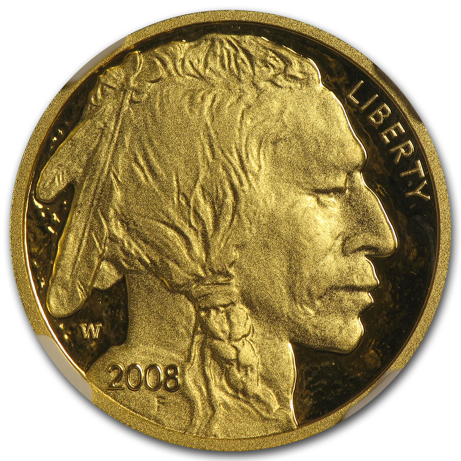 2008-W 1/4 oz Gold Buffalo PF-70 NGC