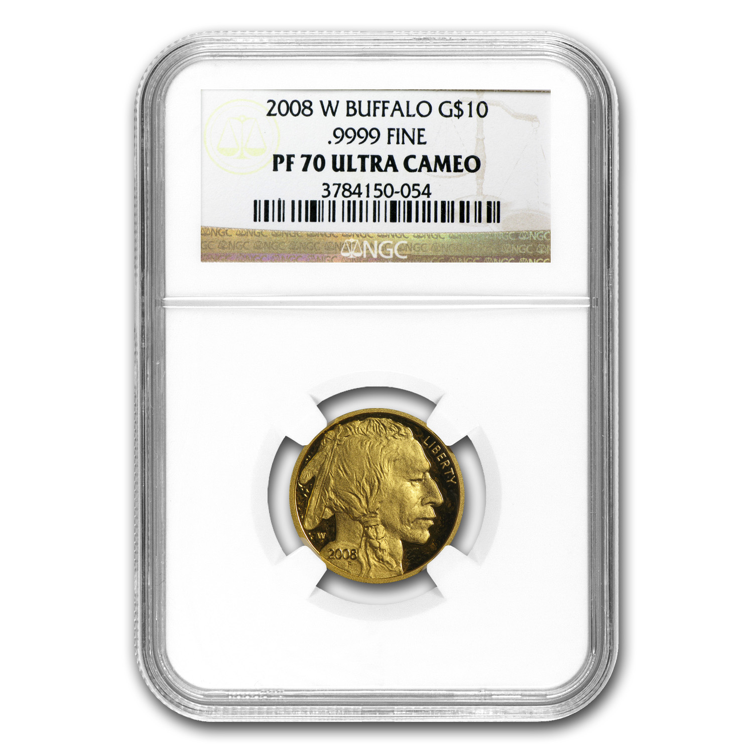 2008-W 1/4 oz Proof Gold Buffalo PF-70 NGC