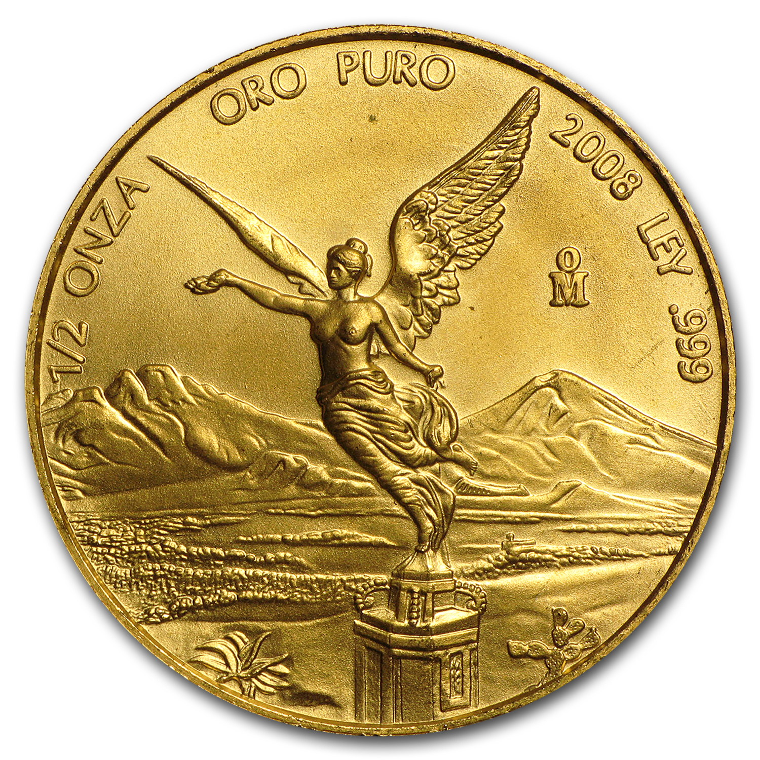 2008 Mexico 1/2 oz Gold Libertad BU