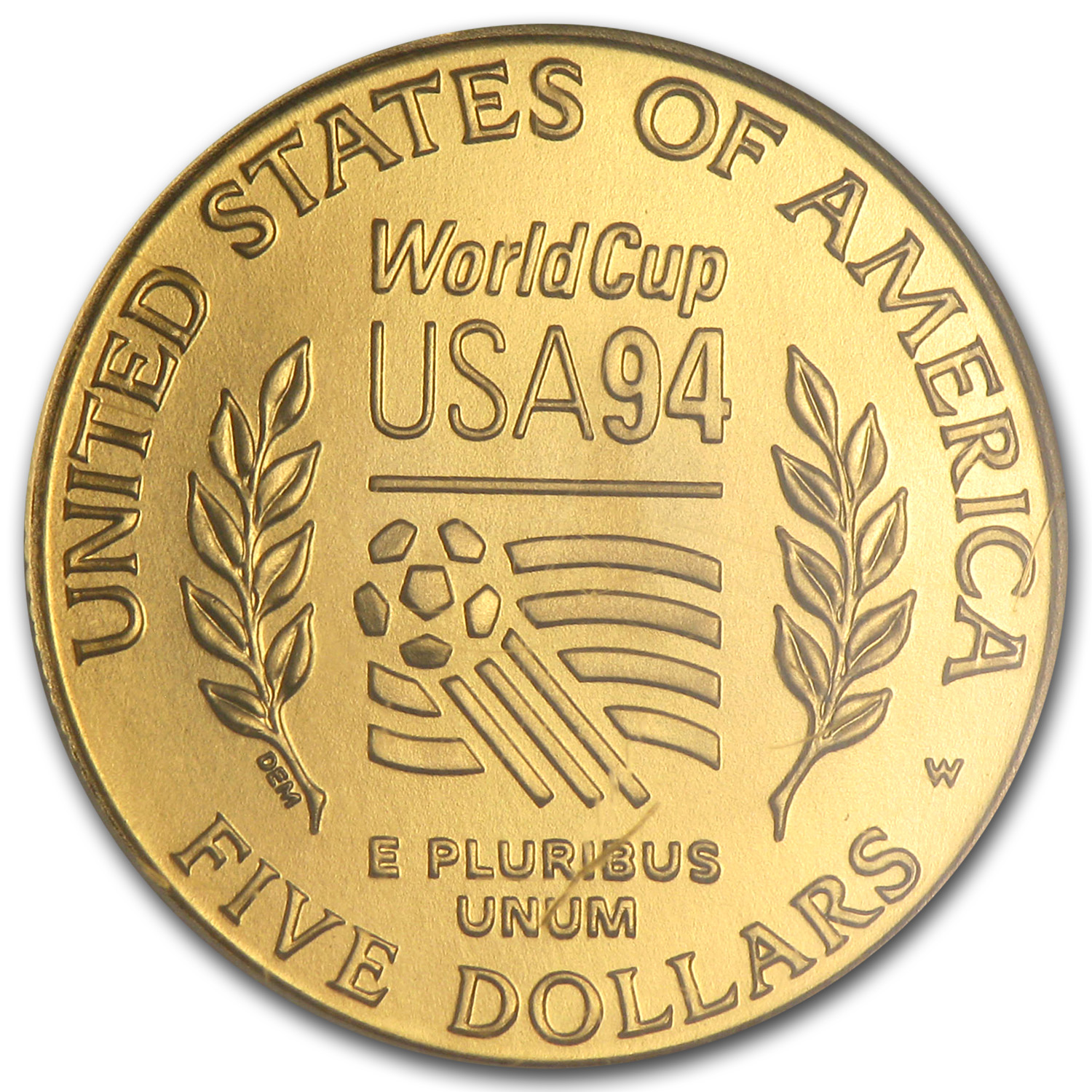 1994-W Gold $5 Commem World Cup MS-70 NGC